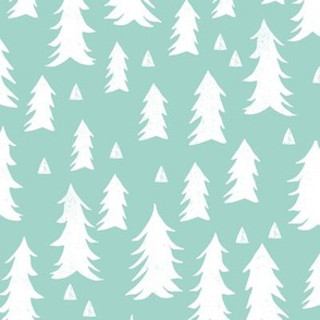 trees // mint forest tree fir tree kids baby nursery sweet trees