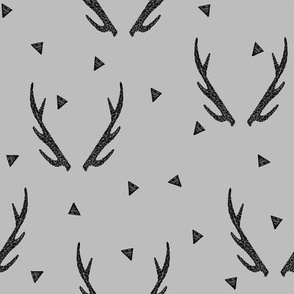 Antlers - Slate by Andrea Lauren