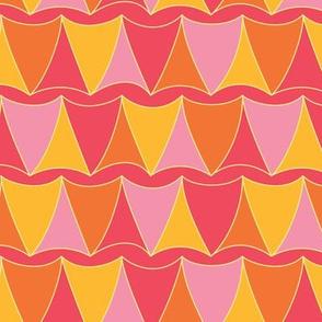 Curvy Trilaterals (pink-orange)