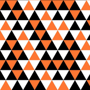 Triangle Black Orange White