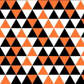 Triangle Black Orange White