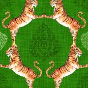 Big Cat Damask (in Emerald)
