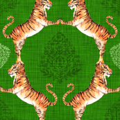Big Cat Damask (in Emerald)
