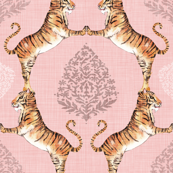 Big Cat Damask (in Rose Quartz)
