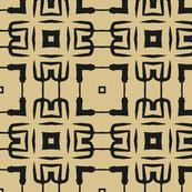 Black and Tan Lattice Abstract