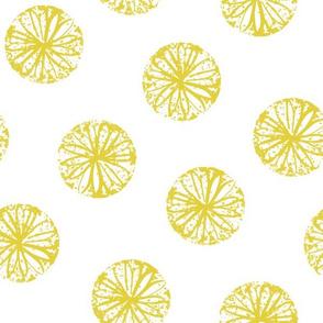 Sunburst - white and citron