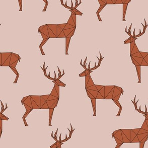 Deer - Peach Red Brown