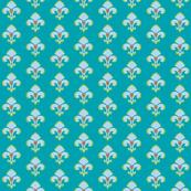 Fleur de Lis in Aqua