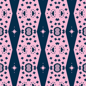 Architectural Elements in Udaipur - indigo & pink 2