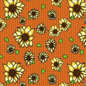 Sunflower Orange gingham
