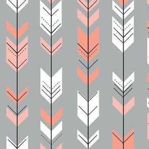 Fletching arrows // grey/coral