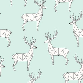 Deer - Mint White
