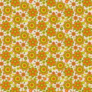 Canister floral orange