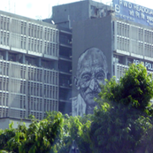 Gandhiji on Police Headquarters, New Delhi