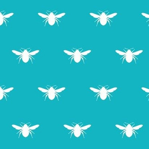 BumbleBee_White_on_Teal