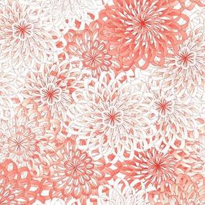 ribbon mums - coral