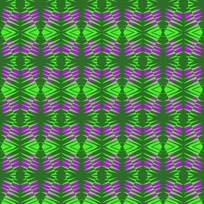 Tribal Zebras Purple Green