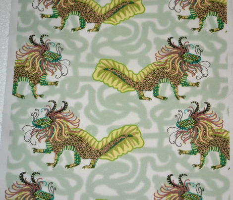 Dragon in Jade Shades