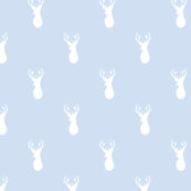 Deer white on blue