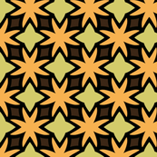 Orange Flower Latticework