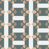 Blue and White Stripe Design