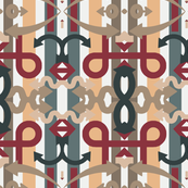 Abstract Design Elements Over Stripes