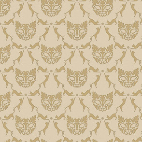 Cat Damask (beige)
