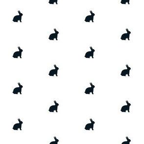 Black Bunny Polka Dot, half inch bunnies