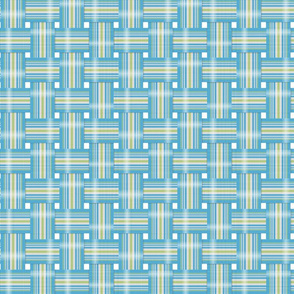 Vintage Lawn Chair design in teal and lime