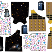 (Reversable) Geek Baby Dresses