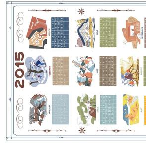 WPA Calendar Towel