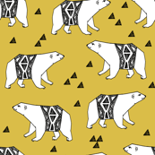 Arctic Polar Bear - Mustard by Andrea Lauren