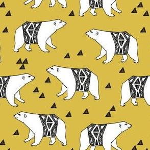 arctic polar bear // polar bear fabric arctic design