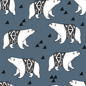 Arctic Polar Bear - Payne's Gray by Andrea Lauren