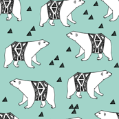 Arctic Polar Bear - Pale Turquoise by Andrea Lauren