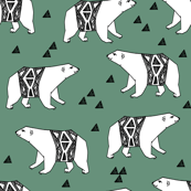 Arctic Polar Bear - Viridian by Andrea Lauren