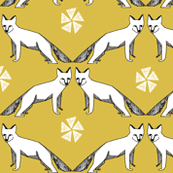 Arctic Fox - Mustard by Andrea Lauren