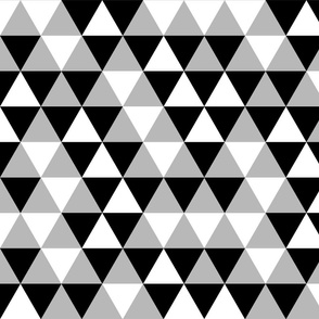 Triangles Black White Grey