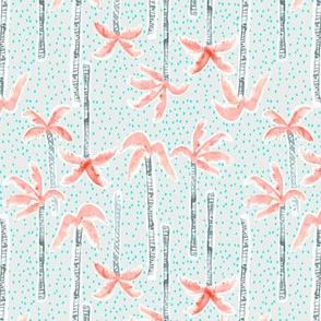 Tropicana Palms SMALL (pink/aqua)