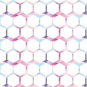 Watercolour Hexagons