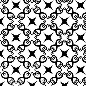 Black and White Lattice and Stars