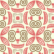 Abstract Floral in Pink and White