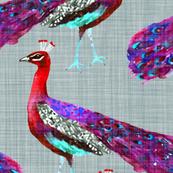 Rajah's Peacocks (in Amethyst)