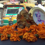God and Guru on the Dashboard in Rajastan