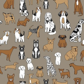 dogs // print dog illustration cute dog dog breed pet dog fabric