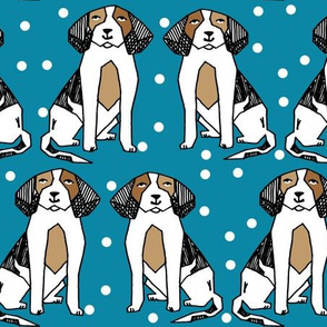 beagle // cute dog illustration dog breed dog pet dog illustration pattern