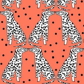 dalmatian // bright dog design cute dog pattern illustration