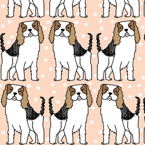 dog // spaniel dog breed blush cute dots girly pastel dogs pattern