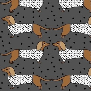 dachshund // doxie sausage dog cute dots cute dog pet dog breed fabric