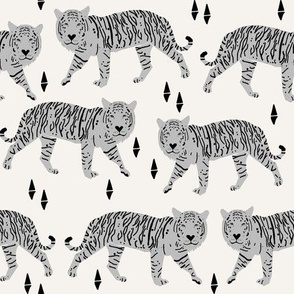 Tigers - Off-white/Slate by Andrea Lauren